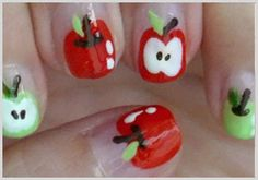 How To: Cute Apple Nails
