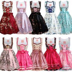Stockerpoint Dirndl Aurela schwarz pink lila 34 36 38 40 42 Trachtenkleid Wiesn