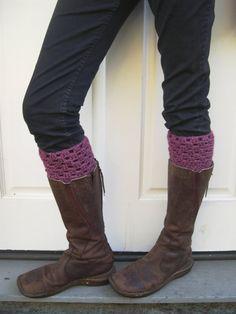 Crochet Boot cuffs  Dark rose boot cuffs