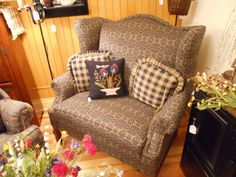 Chair and and 1/2 Country Sofas, Country Furniture, Country Living, Primitive Decor, Poodles, Wingback Chair, Primitives, Love Seat, Accent Chairs