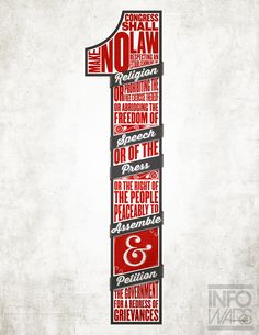 First Amendment Typographic Poster