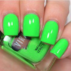 Virago:  ⭐ I Can't Kelp Myself ⭐ ... a bright neon green creme nail polish
