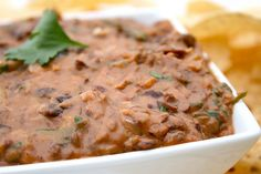 Black bean dip- yum!