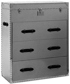 Andrew Martin Steel Chest of Drawer