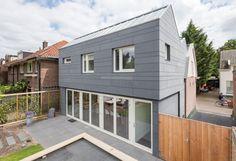 één-onder-drie-kap / BYTR architecten Utrecht-Rotterdam, architecture, detail, contrast, extension, facade, bricks, wood, glass, roof