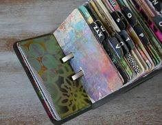 """old rolodex for """"filling the well"""" wellness cards. Ideas for self care on those days when you can't think of anything that would feel good."""