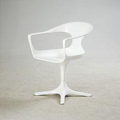 Luigi Colani; Lacquered Fiberglass Armchair for Lusch, 1971.