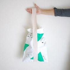 spoken words project Kinchaku Bag S / hand