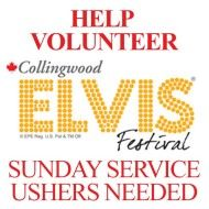 Serve within our community at this yearsElvis Fest Sunday Service on July 28. Volunteers are needed as ushers. Consider signing up! We're forming a small team to help serve and you could be a valuable member of that team. Email: office@newlifecollingwood.com to sign up or fill out your name on the sign up sheet at New Life at our 10 am Sunday morning service at our Connection Centre.