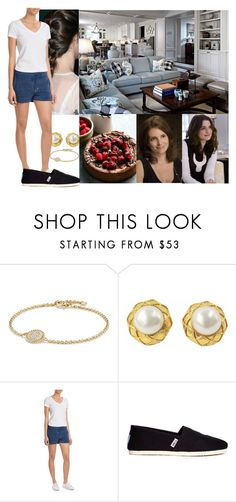 """""""Relaxing at home and being visited by her stepsisters,Mara and Tracie"""" by duchess-danielle ❤ liked on Polyvore featuring David Yurman, Chanel, Orlebar Brown, Schumacher and TOMS"""