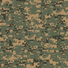 Green Digital Camouflage Seamless Pattern Stock Photo