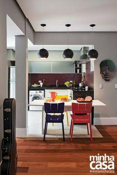 Cozinha x Sala | Frio x Quente | Madeira x Porcelanato #revistaminhacasa