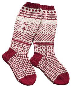Jacquardstickade strumpor i Novita Nalle Fair Isle Knitting, Knitting Socks, Hand Knitting, Knitting Patterns, Crochet Patterns, Norwegian Knitting, Wool Socks, Christmas Knitting, Sock Shoes