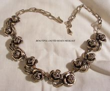 TODAYS ARRIVALS Happy New Year Many items sale priced with 20 to 60% off Visit my Plaza shop open till 12/31 30%off storewide Beautiful vintage casted roses Necklace Near Mint