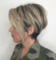 Een bruine coupe met blonde highlights is de perfecte keus voor dit najaar! - Kapsels voor haar