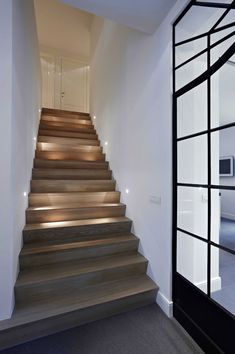 Your-Home/ modern staircase, contemporary stairs, staircase design, stairca Rustic Stairs, Wood Staircase, Wooden Stairs, Modern Staircase, Staircase Design, Staircase Ideas, Staircase Remodel, Staircase Makeover, Interior Stairs