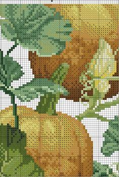 Fall Cross Stitch, Cross Stitch Fruit, Cross Stitch Flowers, Cross Stitch Patterns, Fall Quilts, Cross Stitch Pictures, Stitch 2, My Flower, Beaded Embroidery