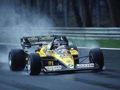 Gerhard Berger in the ATS-BMW D7 at the 1984 Italian Grand Prix at Monza