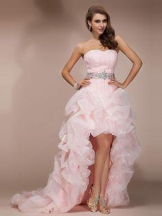 A-line/Princess Sweetheart Sleeveless Asymmetrical Beading Organza Dresses