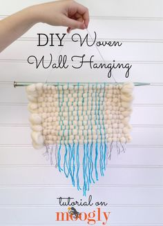 Learn to make a beautiful woven wall hanging with Moogly and Lion  Brand Yarn! Free tutorial featuring the Martha Stewart Crafts® DIY Weaver™ !