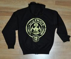 Hunger Games District 12 Hoodie Sweater Jacket by jerryamsterdam, $35.95