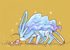 lore tells that not a single paw of suicune's could harm a blade of grass. rather, it merely touched them, never bending them in spite of its weight.