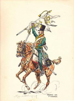 French; 7th Hussars, 1815 by E. Leliepvre