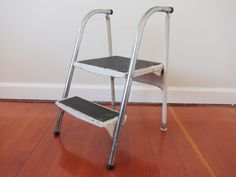 Vintage Metal Folding Step Stool - Reserved For Allison