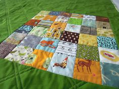 Teddy's Quilt Up Close by Quilting Barbie, via Flickr
