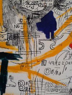 Jean-Michel Basquiat Artist Painting Detail Sothebys London