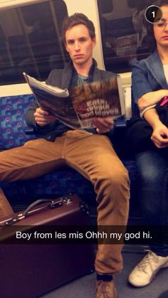 "bespokeredmayne: Eddie on the Tube today. ""@PippaCharyork: Just casually took the tube with Eddie Redmayne. And THIS is why we love London"" Source,@pippacharyork"