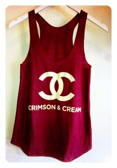 Chanel crimson and cream tank Boomer Sooner! Delta Girl, Boomer Sooner, Delta Sigma Theta, Oklahoma Sooners, Facon, Blazer, Swagg, Dress Me Up, Passion For Fashion