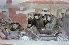 'Death of St Francis and Inspection of Stigmata', c1320. From the Bardi Chapel, Church of Santa Croce, Florence, Italy.