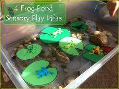 Encourage. Play. Learn.: Frog Sensory Ponds