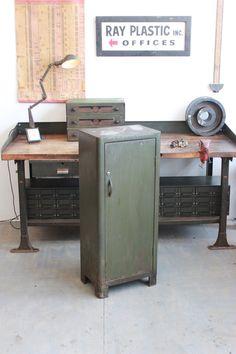 """Vintage Industrial """"Otis Elevator"""" Steel Cupboard/ Cabinet - 1940s"""