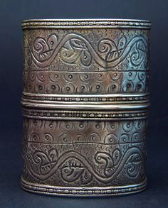 Afghanistan | Old Ersari Turkmen silver cuff from the Olami people | ca. early 1900s | 290€