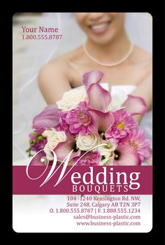 Beautiful,buckets of bouquets. How'd you like that alliteration? Wedding industry business card by, Arc Reactions.  www.arcreactions.com