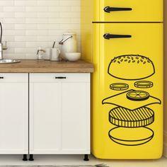Sticker burger graphique pour cuisine par Optimistick