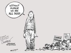 """EN IMAGES. """"Charlie Hebdo"""" : des dessins pour dénoncer l'attentat by Chappatte (New York Time)"""
