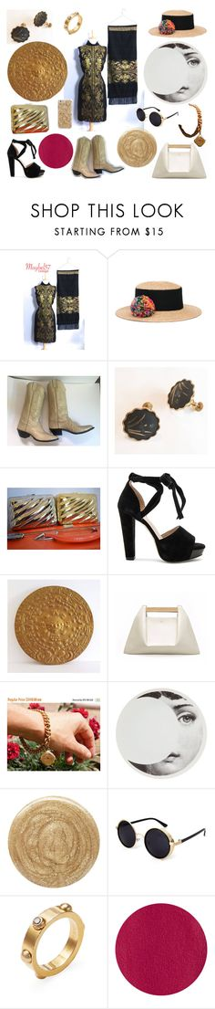 """""""Sun To Moon Chic"""" by troppo-bella-vintage ❤ liked on Polyvore featuring Eugenia Kim, Raye, Fornasetti, Burberry, Louis Vuitton, Illamasqua, modern and vintage"""