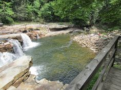 5) Pictured here are the High Falls of Cheat, located in Glady, WV.