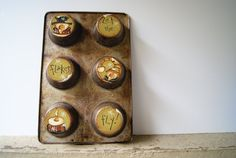 Snowman Muffin Pan Christmas Decoration Hand Painted Rustic Snowman Muffin Pan Let The Flakes Fly!
