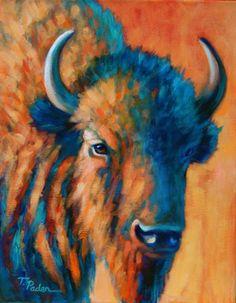 Blue Buffalo by Theresa Paden | Artists International Gallery