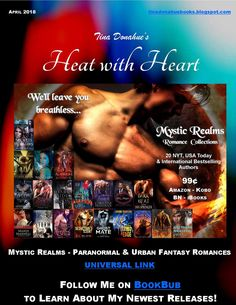 Tina Donahue Books - Heat with Heart: 3 MEGA Giveaways and a new boxed set - 20 paranormal and urban fantasy romances by NYT, USA Today, and international bestselling authors #MysticRealms #TinaDonahueBooks #Giveaways