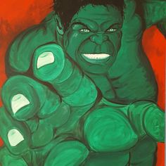 Hulk Acryl auf Leinwand