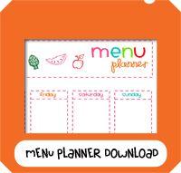 Mom menu planner printable Free Printable Menu Planner