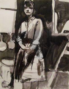 Richard Diebenkorn, Ink Drawing