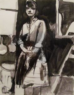 urgetocreate: Richard Diebenkorn, Untitled, ca.1955. Ink on... (ALONGTIMEALONE)