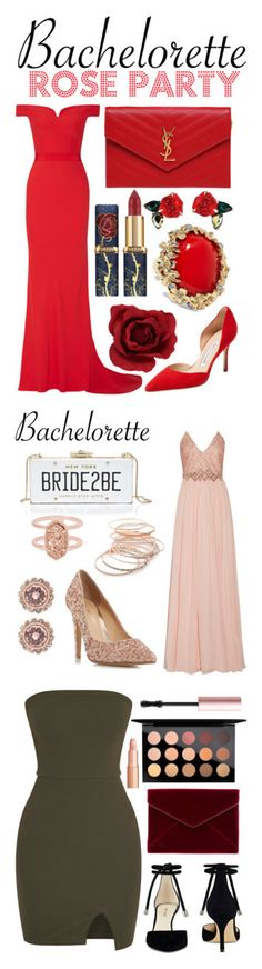 """""""Winners for Dress Rachel for the Bachelorette!"""" by polyvore ❤ liked on Polyvore featuring Alexander McQueen, Manolo Blahnik, Yves Saint Laurent, Oscar de la Renta, Badgley Mischka, Kate Spade, Head Over Heels by Dune, Red Camel, Kendra Scott and Ted Baker"""