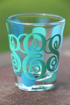 Personalized  Monogrammed Shot Glass  by SimpleandSassyGifts, $6.00 hilarious xmas gift for my hot mess friends